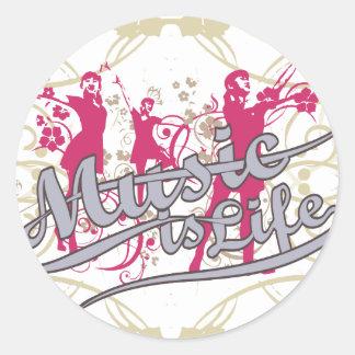 A música é t-shirt e presentes da vida adesivo