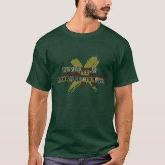 """A """"música é uma competição """" camiseta"""