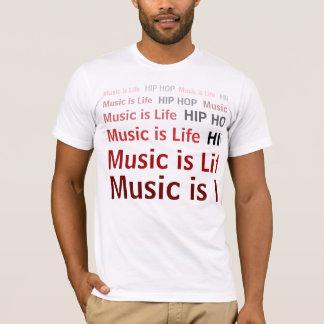 A música é vida/Hip Hop Camiseta