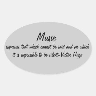A música expressa… adesivos em formato oval