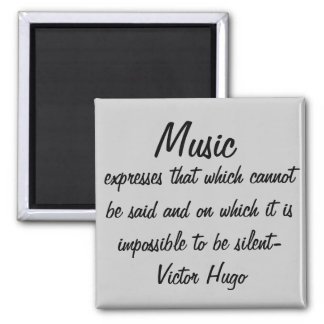 A música expressa… ímã quadrado