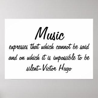 A música expressa… pôster
