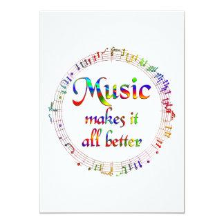 A música fá-lo melhor convites personalizados