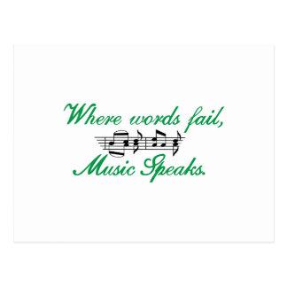 A música fala cartão postal