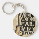a música fala chaveiro