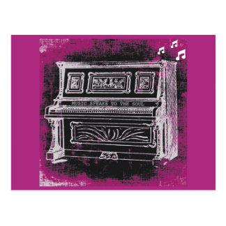 A música fala o cartão cartões postais