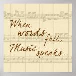 A música fala pôsteres
