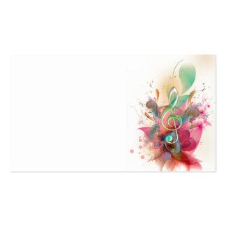 A música legal do clef de triplo dos watercolours  modelos cartao de visita