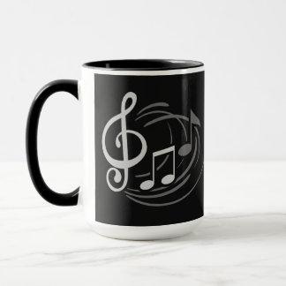 A música nota canecas conhecidas feitas sob