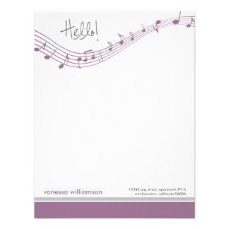 A música nota cartões de nota lisos feitos sob enc convites