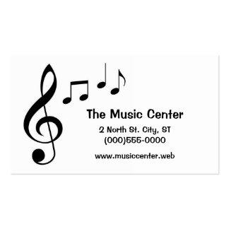 """A """"música nota"""" cartões de visitas"""