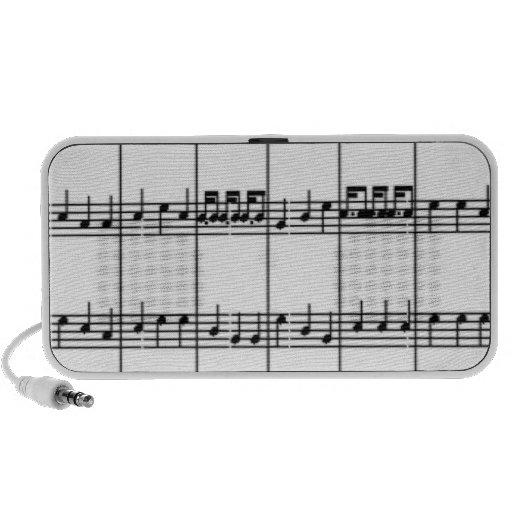 A música nota o auto-falante caixinha de som para notebook