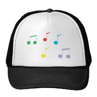 A música nota o chapéu do camionista boné