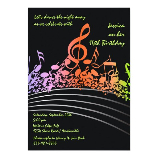 A música nota o convite