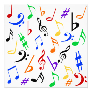 A música nota o convite customizável - multi