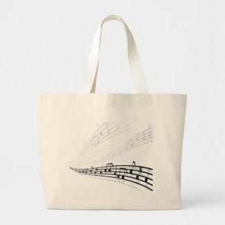 A música nota símbolos da notação musical do bolsas