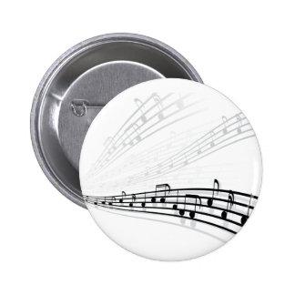 A música nota símbolos da notação musical do boton