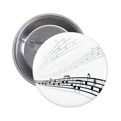A música nota símbolos da notação musical do ~ boton