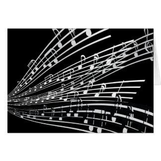 A música nota símbolos da notação musical do cartao