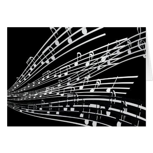 A música nota símbolos da notação musical do ~ cartao
