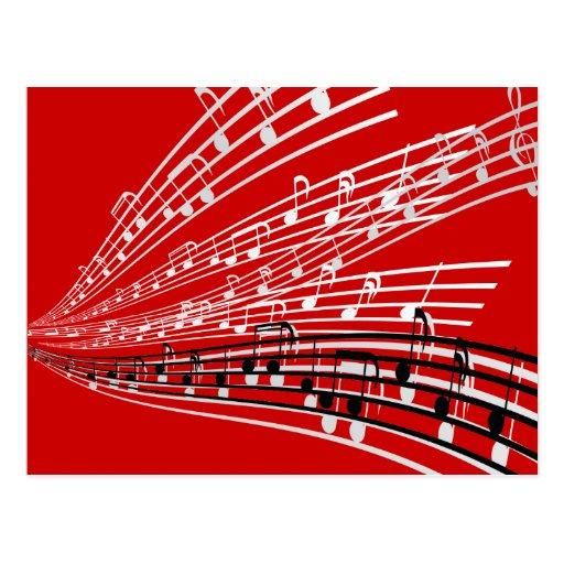 A música nota símbolos da notação musical do ~ cartao postal