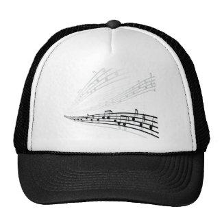 A música nota símbolos da notação musical do bones