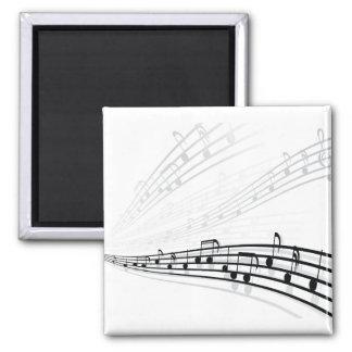 A música nota símbolos da notação musical do ~ ímã quadrado