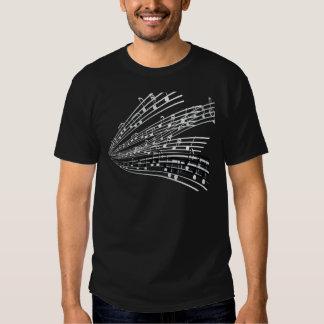 A música nota símbolos da notação musical do ~ t-shirt