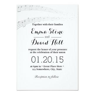 A música simples e elegante nota convites do