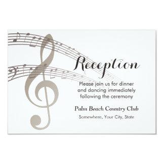 A música simples nota a recepção de casamento convite 8.89 x 12.7cm