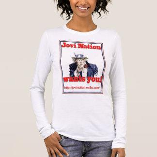 A nação de Jovi quê-lo Camiseta Manga Longa