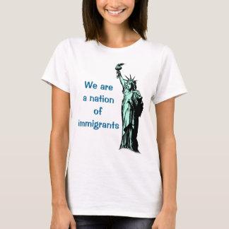 A nação dos imigrantes resiste a camisa