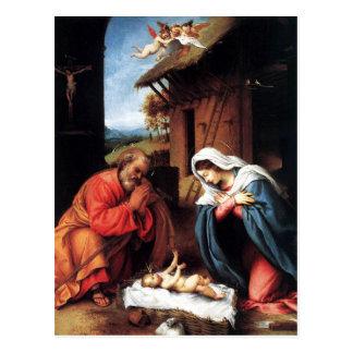 A natividade pelo loto cartão postal