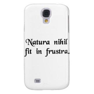 A natureza não faz nada em vão. galaxy s4 cases