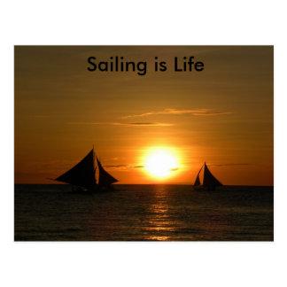 A navigação é cartão da vida