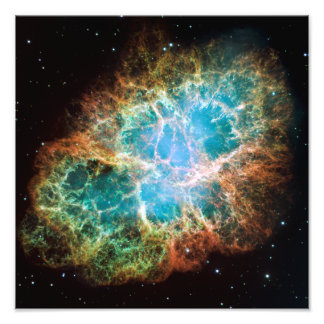 A nebulosa de caranguejo (telescópio de Hubble) Impressão De Foto