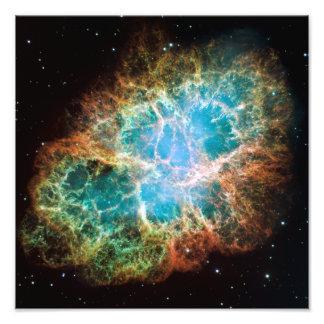 A nebulosa de caranguejo telescópio de Hubble Impressão Fotográfica