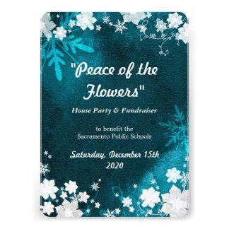 A neve floresce convites do evento do Fundraiser d