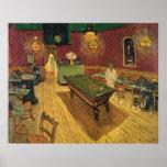A noite Café de Van Gogh (nuit) de Le Café de 1888 Impressão