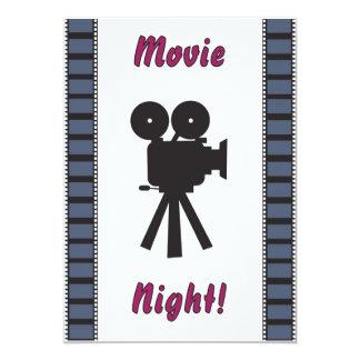 a noite de cinema convida convite 12.7 x 17.78cm