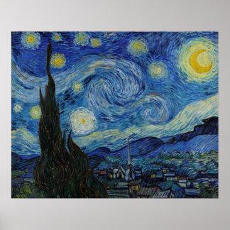 A noite estrelado pelo poster de Vincent van Gogh