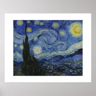 A noite estrelado por Van Gogh Poster