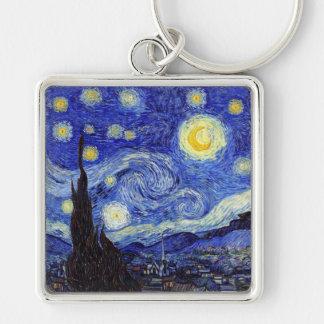 A noite estrelado Van Gogh inspirou o chaveiro