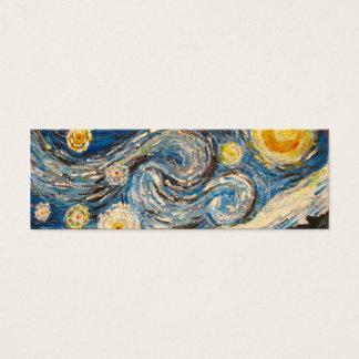 A noite estrelado Van Gogh repinta o cartão do