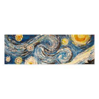 A noite estrelado Van Gogh repinta o cartão do mar Cartoes De Visita