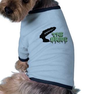 A noiva camisa ringer para cachorro