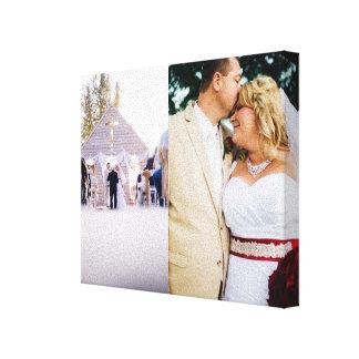 A noiva & o noivo personalizados adicionam canvas  impressão em tela