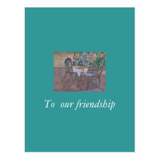 A nossa amizade cartão postal