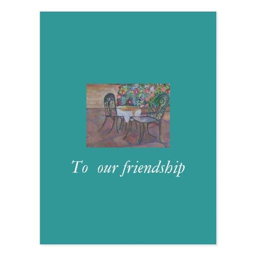 A nossa amizade cartao postal