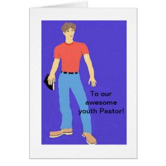 A nosso pastor da juventude cartão comemorativo